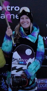 Olympic snowboarder Jamie Anderson