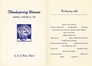 thanksgiving menu 1942