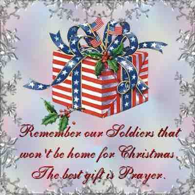 Remember our soldiers that won't be home for #Christmas. The best gift is prayer.