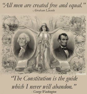 George Washington & Abraham Lincoln