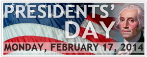 Presdients Day 2014