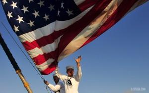 U.S. Navy ship & sailors